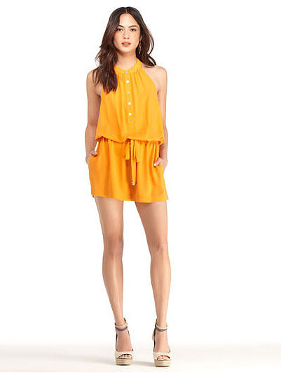 For the girl who's excited to wear bold colors all Summer long, this Rachel Roy Henely romper ($79, originally $109) is quite the statement. Remember to keep all add-ons in shades of neutral so that the romper can stand alone.