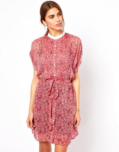 Edun Diffusion Print Belted Dress