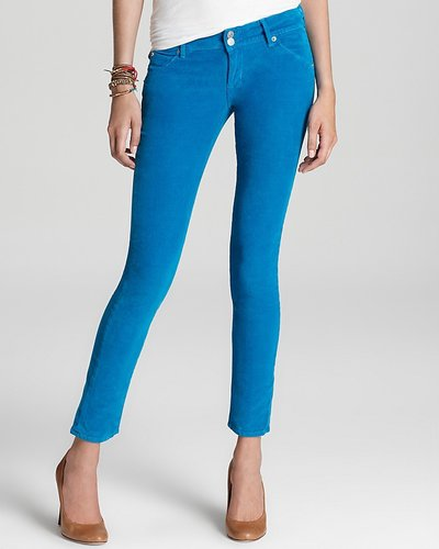 Hudson Pants - Collin Skinny Corduroy in Teal We Meet Again