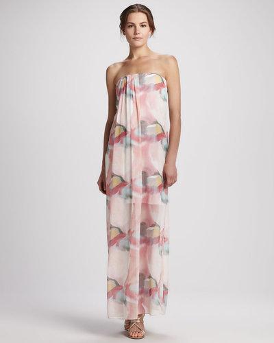 Alice + Olivia Kiernan Floral Strapless Maxi Dress