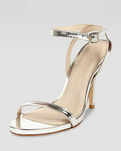 Elizabeth and James Toni Ankle Strap Bare Sandal, Silver