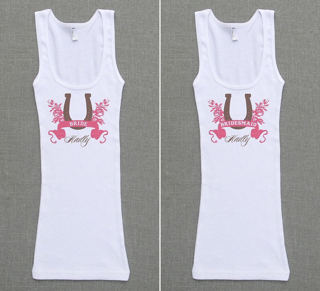 Horseshoe Bridal Party Tank Tops