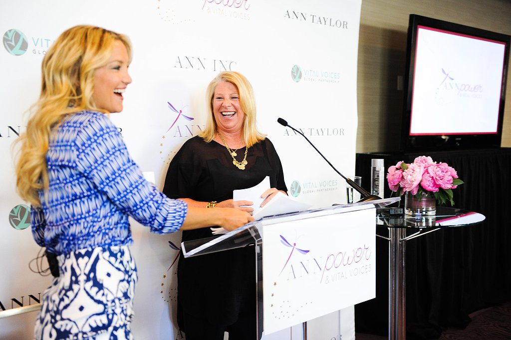 Kate Hudson surprised 50 high school girls at the Vital Voices Leadership Forum.  Source: Carly Otness/BFAnyc.com