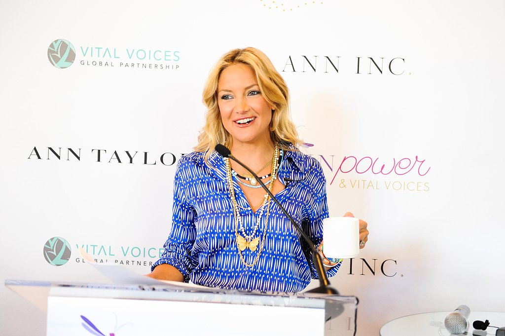 Kate Hudson gave a surprise speech at the Vital Voices Leadership Forum in Washington DC.