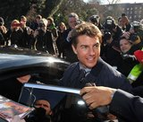 Tom Cruise got into an awaiting car.