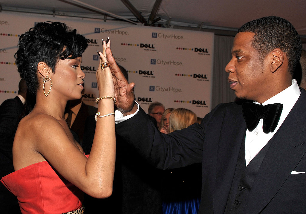 Rihanna and Jay-Z shared a high five in October 2008 at the Spirit of Life Awards in Santa Monica, CA.