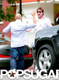In June 2009, Luke Wilson got a friendly slap from a pal in NYC.