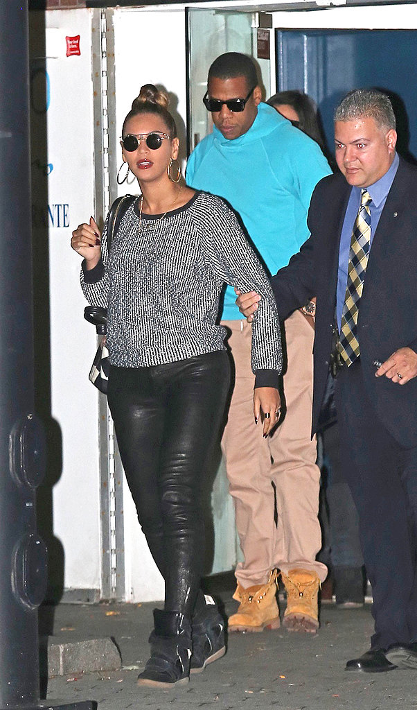 In October 2012, Beyoncé and Jay-Z kept it causal and cool for dinner in NYC.