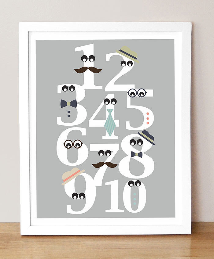Mister Numbers Print