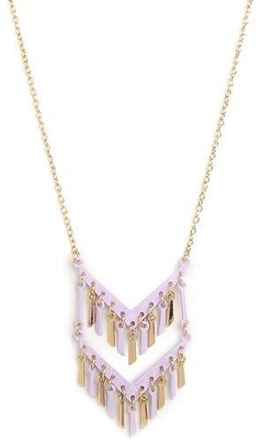 Lilac Chevron Fringe Pendant