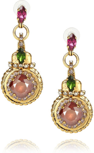 Erickson Beamon Bosa Nova gold-plated drop earrings