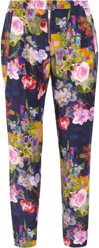 Matthew Williamson Floral-print silk pants