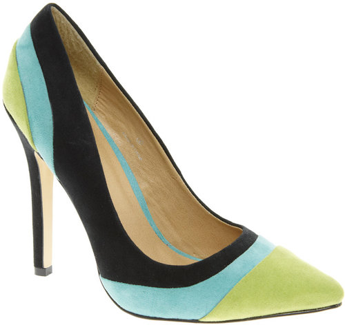ASOS PIPER Pointed High Heels with Color Block