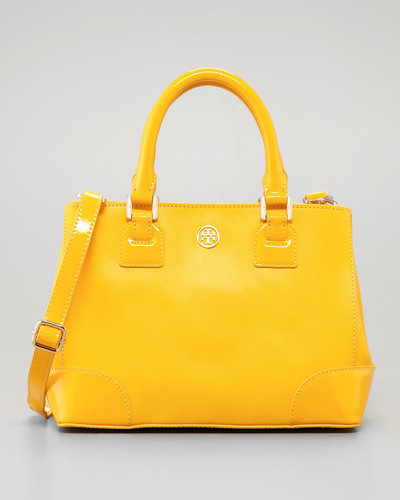 Tory Burch Robinson Mini Square Tote Bag, Yellow