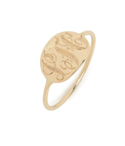 Ariel Gordon Gold Slim Signet Ring (SHIPS 4 WEEKS FROM ORDER DATE)