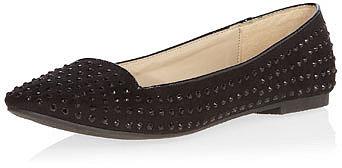 Black studded slipper