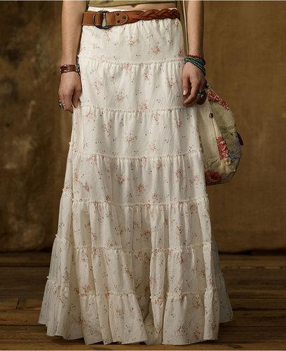 Denim & Supply Ralph Lauren Skirt, Floral-Print Tiered Maxi