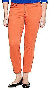 jcpTM Slim-Fit Ankle-Length Colored Jeans- Plus