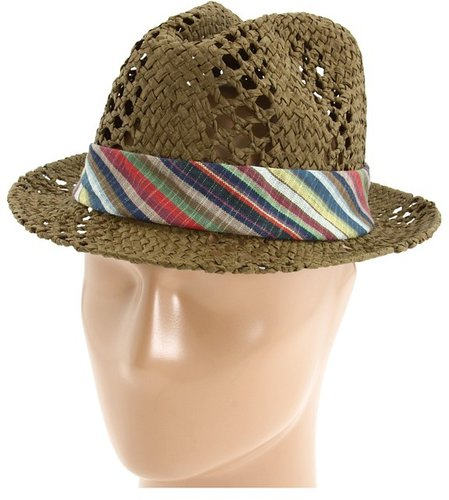 San Diego Hat Company - PBF4222 Straw Fedora (Brown) - Hats