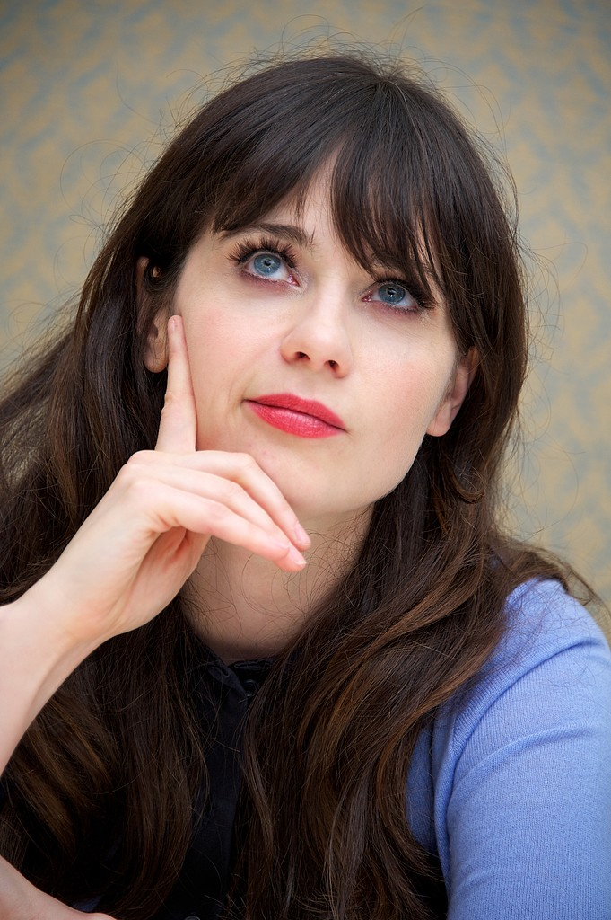 "Zooey Deschanel told Glamour how she defends herself against critics of her girlie persona: ""I'm just being myself. There is not an ounce of me that believes any of that crap that they say. We can't be feminine and be feminists and be successful? I want to be a f*cking feminist and wear a f*cking Peter Pan collar. So f*cking what?"""