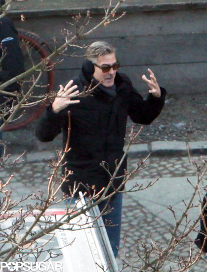 George Clooney expressed himself while directing The Monuments Men.