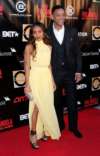 Will Smith and Jada Pinkett Smith posed for photos.