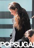 Katie Holmes Battles the Wind in the Big Apple