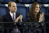 Kate Middleton and Prince William clapped during their visit to Glasgow.
