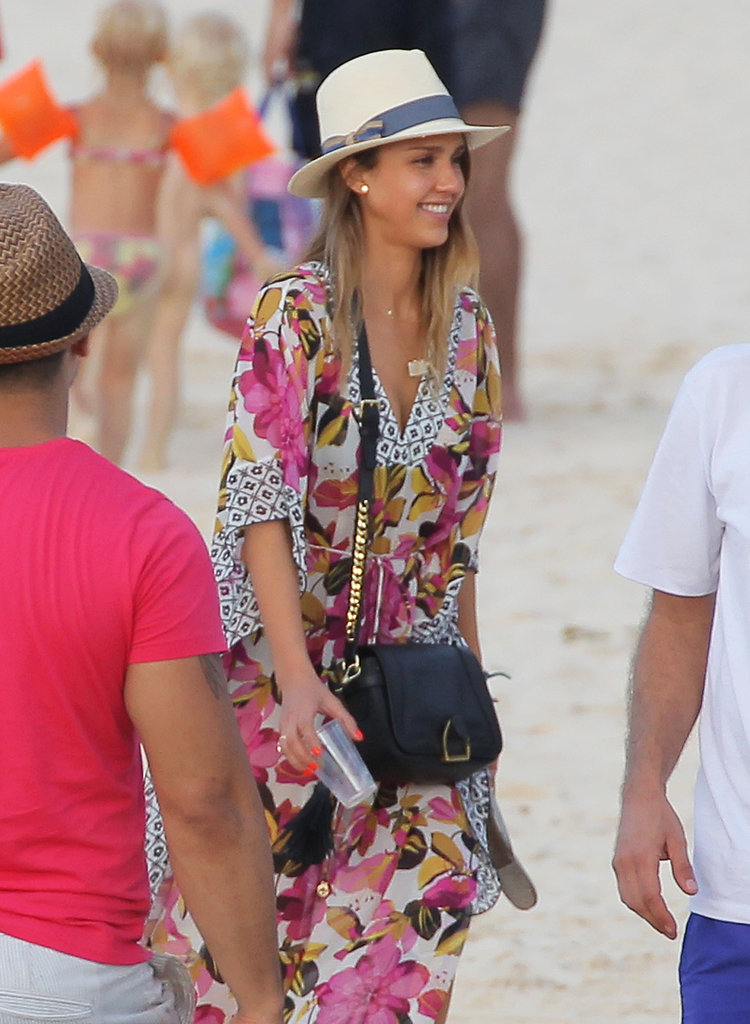 Jessica Alba Jets Off to St. Barts For Pal's Anniversary