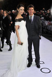 Tom Cruise and Olga Kurylenko walked the white carpet together.
