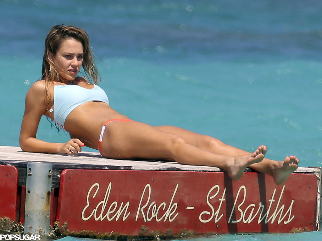 Jessica Alba's Amazing Bikini Body Makes a Splash With Cash Warren