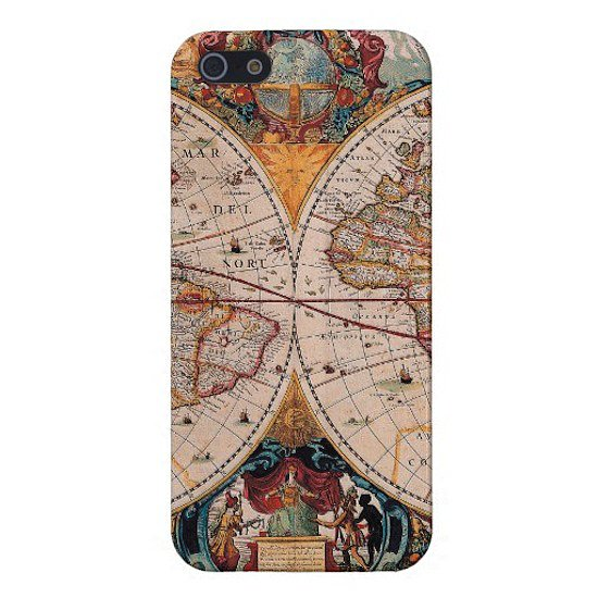 Take a trip to yesteryear thanks to this old world map iPhone 5 case ($40).