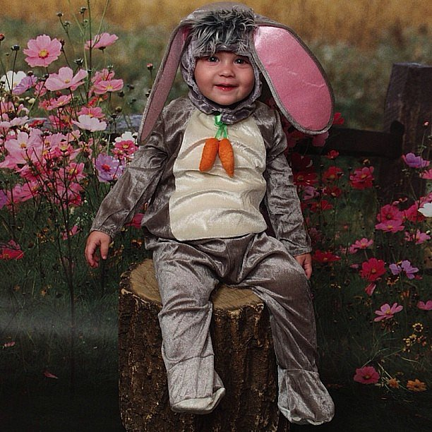 Milo Bugliari looked Easter ready in his bunny suit! Source: Instagram user milano_alyssa