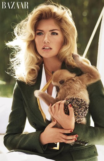 Kate Upton photographed by Sebastian Faena. Photo courtesy of Harper's Bazaar