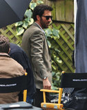 Clive Owen rocked sunglasses on the set of Words and Pictures in Fort Langley, Canada, on Wednesday.