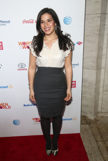 America Ferrera attended the Women in the World Summit.