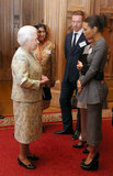 Thandie Newton shared a chat with the queen.