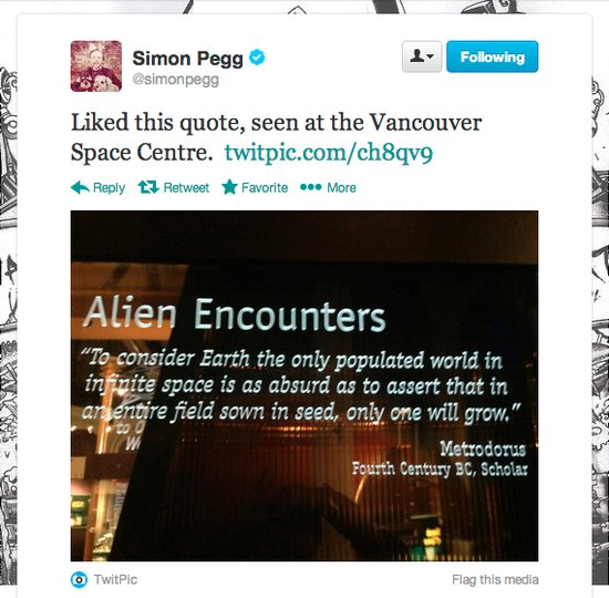 Actor Simon Pegg makes a good case to save space exploration.