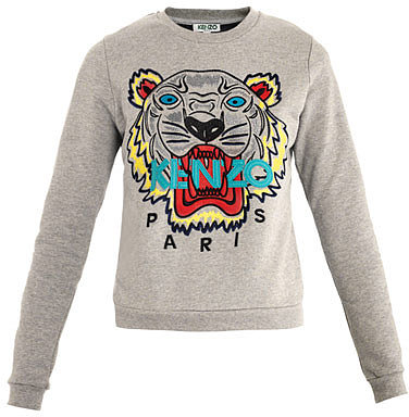 Kenzo Tiger embroidered sweat-top