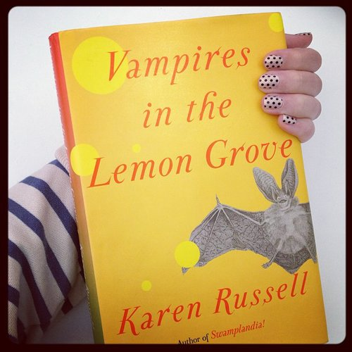 We shared one of our must reads — Karen Russell's collection of short stories, Vampires in the Lemon Grove — along with some polka-dot nails on our Instagram.
