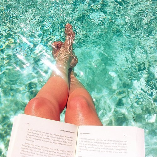 """With her feet in the water, glitterandgrace wrote, """"Thankful for every minute not spent in front of a computer screen."""""""
