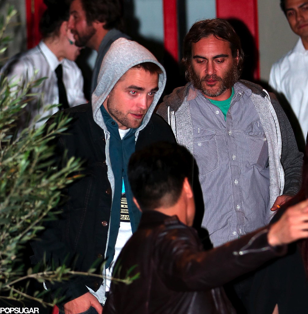Robert Pattinson left a restaurant with Joaquin Phoenix.