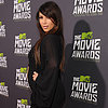 Kim Kardashian Pregnant Pictures at 2013 MTV Movie Awards