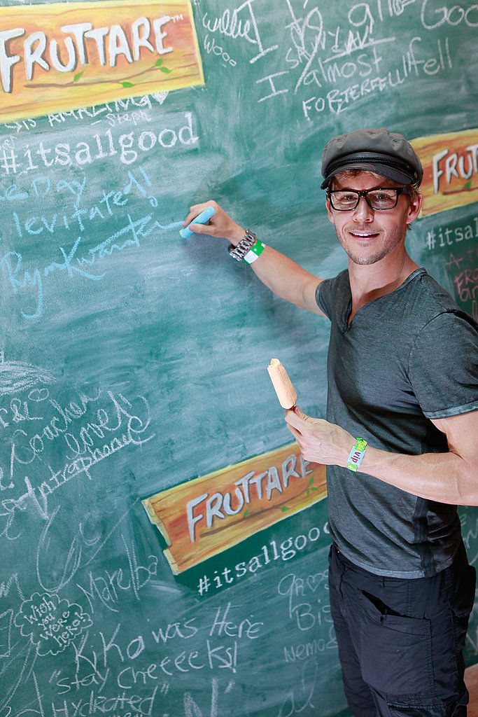 Ryan Kwanten stopped by the Fruttare Hangout at Coachella.