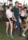 Robert Pattinson and Kristen Stewart held hands on day two.