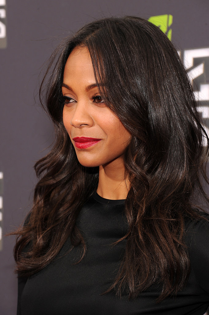 Zoe Saldana Brings Florals to the MTV Movie Awards Red Carpet