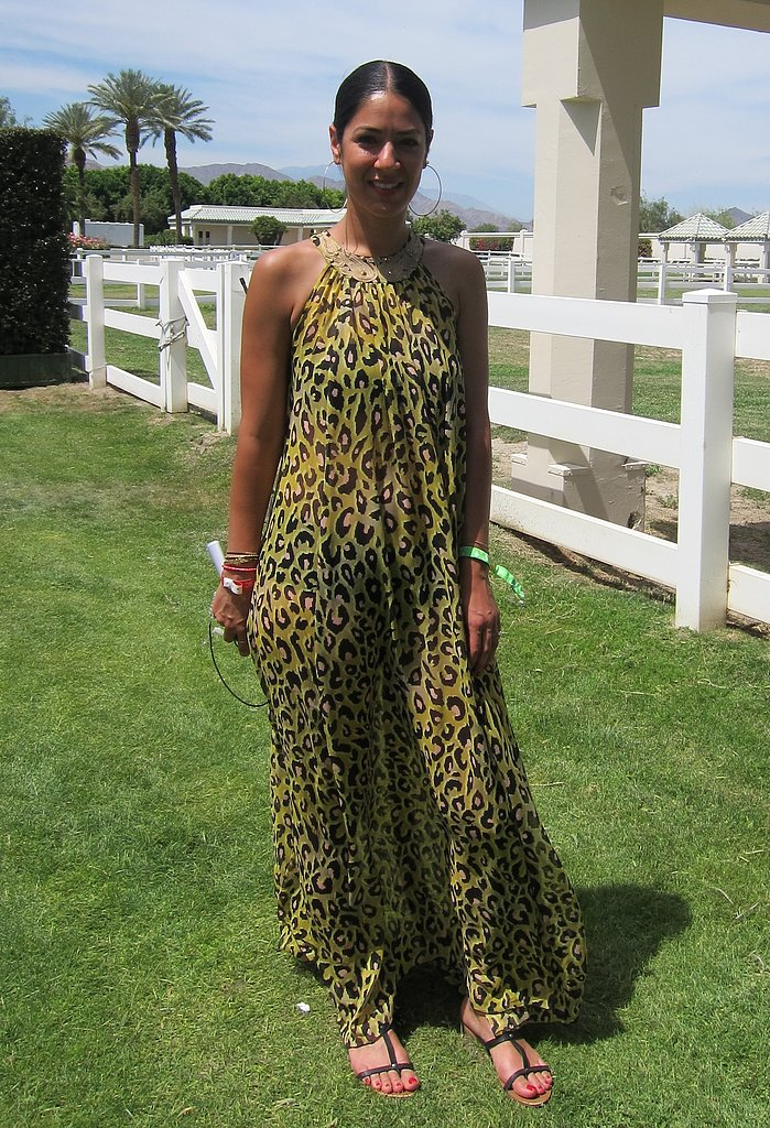 Leopard prints provided the perfect cover-up for this glamorous poolside party look. Source: Chi Diem Chau