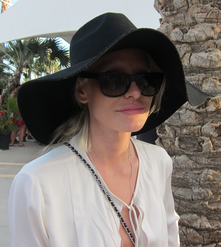 This wide-brim felt hat is the epitome of hippie chic. Bonus: it keeps the desert sun at bay.