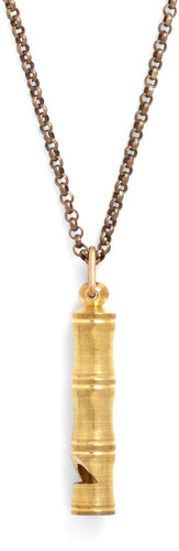 Ornamental Things Gleam as a Whistle Necklace