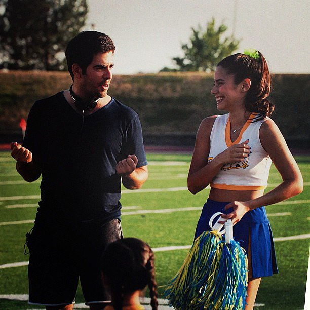 Eli Roth directed Lorenza Izzo in a scene for Hemlock Grove. Source: instagram user eliroth